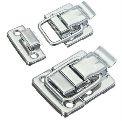 1/2/5pcs Silver Fastener Toggle Latch Catch Chest Case Suitcase Boxes Trunk Lock