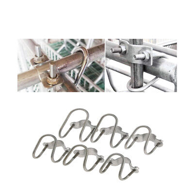 90° Degree Double U Bolt Pipe Clamp Hose Quick Connection, Stainless Steel