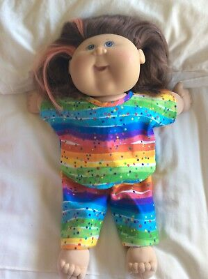 """DOLLS CLOTHES fit 16"""" CABBAGE PATCH DOLL - Pyjamas. Rainbows"""