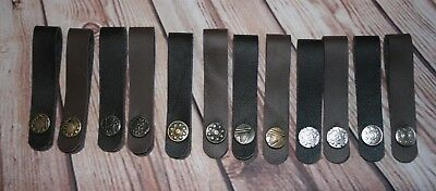 Ukulele Leather Headstock Straps - Browns Collection