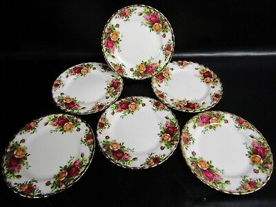 Six Royal Albert Old Country Roses 16Cm Side Plates  - 1962/73 Stamp