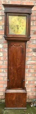 Antique Georgian Oak 30 hour Longcase Grandfather Clock John Lawrence LANCASTER