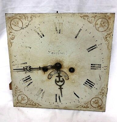 Antique Long Case Grandfather Clock Dial And Movement : R. Honeybone Fairford