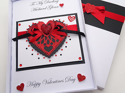 Personalised Valentines Day Card//Ruby Anniversary//birthday card Mothers Day
