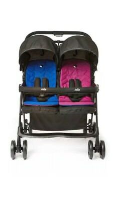 Joie Aire Twin Stroller Blue/Pink NO Raincover.