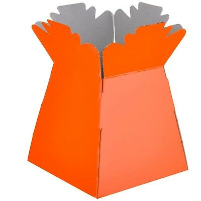 Orange - Living Vases Florist Bouquet Box Flower Plant Aqua Sweet Gift Boxes
