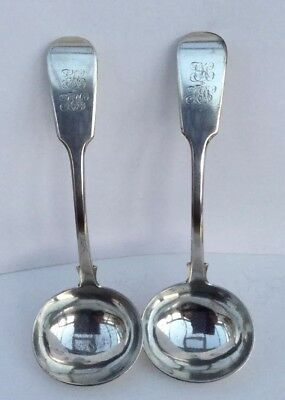Large Pair of Silver Sauce Ladles - Exeter 1839 - J & J Williams