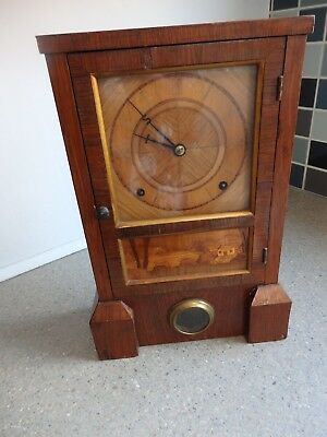 Antique Seth Thomas Marquetry Face & Cottage View 8 Day Clock 1870