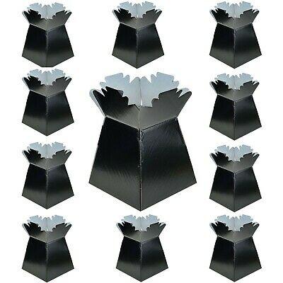 Black - Living Vases Florist Bouquet Box Flower Sweet Boxes - Choose Quantity