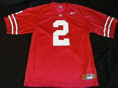 bfc5ecb3d Euc Nike Team Ohio State Buckeyes  2 Men s Size Medium Ncaa Football Jersey