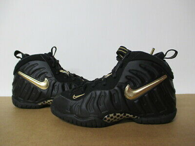 297efcd9d9f7 Nike Little Posite Pro Foamposite Black Metallic Gold Ps Pre School 11-3