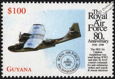 WWII Consolidated CATALINA PBY-5 Flying Boat Aircraft Stamp/1998 RAF 80th Anniv.