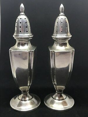 Vintage Sterling Silver M.fred Hirsch Co Salt & Pepper Shakers 835 Not Weighted