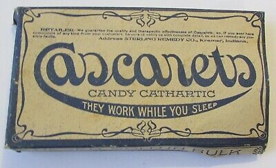 Vintage Cascarets CAndy Cathartic Box EMPTY