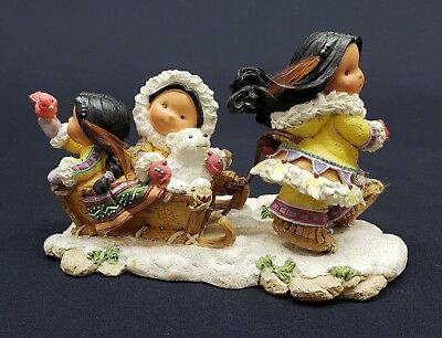 """Enesco Friends Of The Feather """"Miles Of Smiles"""" Figurine With Box 2001"""