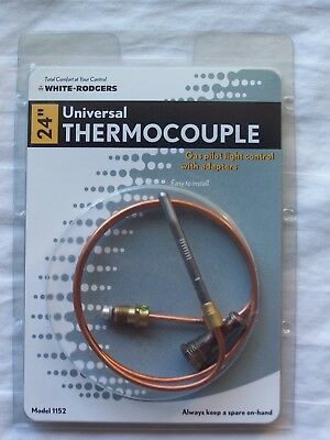 "24"" Universal Thermocouple with adaptors - gas fireplaces - wall heaters"