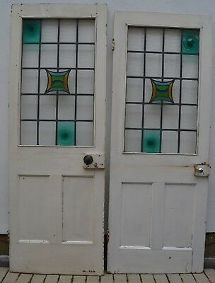 2 English stained glass internal doors R837. DELIVERY OPTIONS!