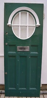 English leaded light stained glass front external door. R882a. DELIVERY OPTION