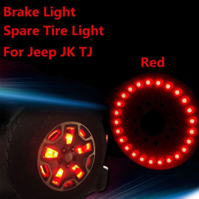 Jk Jeep 3rd Inch Led Wrangler Tire Red Spare Light Third For 2007-2017 Brake