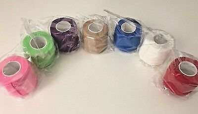 Cohesive bandages a Box of 12 Rolls. High quality Sports Strapping- 5cm x 4.5m