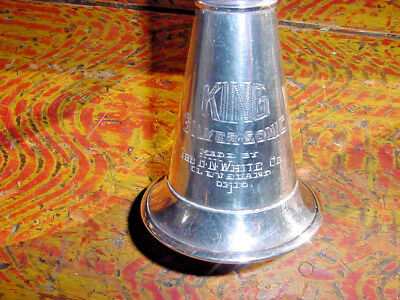 Rare King Silver Sonic Clarinet Sterling Silver Bell Gold Washed