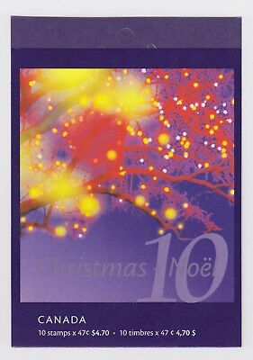 CANADA BOOKLET BK248b 10 x 47c CHRISTMAS - HORSE-DRAWN SLEIGH, OPEN COVER