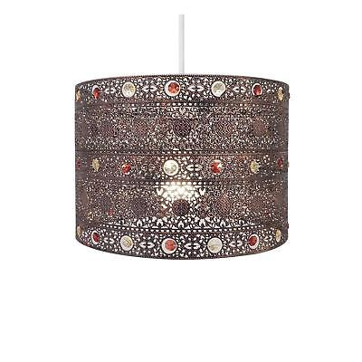 Moroccan Style Antique Bronze Gem Vintage Retro Ceiling Light Pendent Shade New