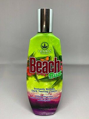 Hempz Beach Bud Dark Tanning Lotion 8.5 oz + FREE Sample