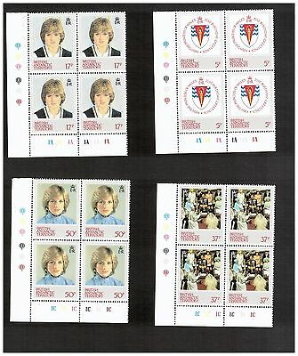 British Antarctic Territory Stamps 1982 Corner Block of 4 Scott 92/95 MNH