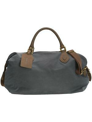 Barbour Wax Travel Holdall Bag Cotton Navy Mens Leather Xmas Gift For Him