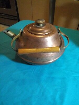 Copper Brass Tea Kettle Made In Germany Vintage 1500 Picclick