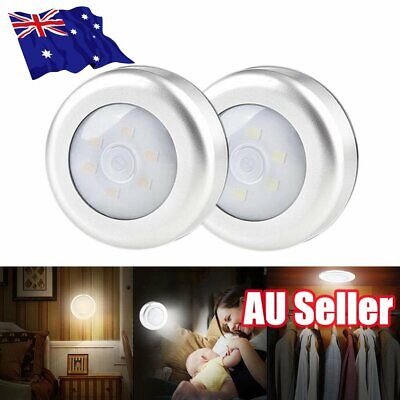 LED Night Light PIR Motion Sensor Infrared Wireless Battery Powered Wall Lamp ON