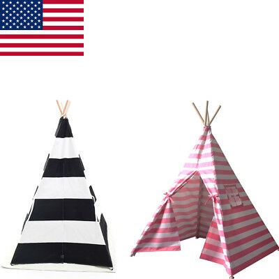 Indian Tent Teepee Sleeping Dome Portable Carry Children Play House Sleeping US