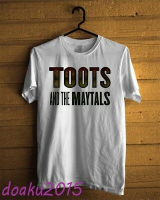 Toots and the Maytals Musical Group T-shirt White Men Custom USA Size S - 2XL