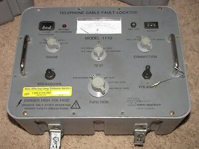 TR Tempo Research Telephone Cable Faulty Locator Model 1110