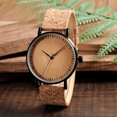 Mens Women Vintage Design Brand Luxury Wooden Bamboo Watches Ladies Watch With L