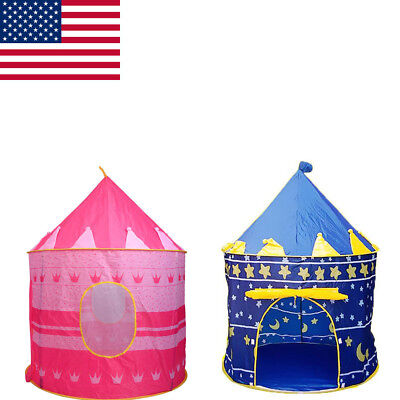 Portable Folding Play Tent Kids Girl Princess Castle Fairy Cubby Playhut House