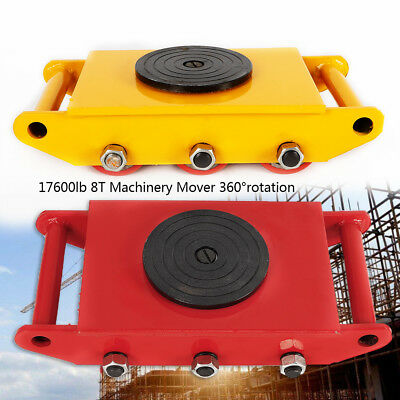 13200LB 6T Machinery Mover Roller Dolly Skate W/360° Swivel Top Plate USA Ship