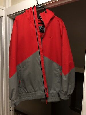 bf6c2b92f830 NIKE Storm Fit SNOWBOARD SKI Water Resistant Hooded JACKET Lined Zip Small  Red