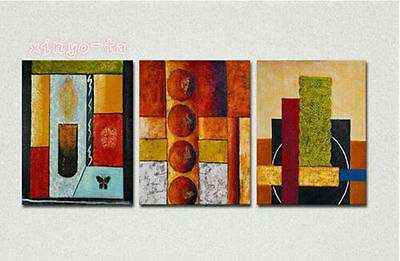 CHENPAT147 3pcs 100% hand-painted modern abstract art oil painting  on canvas