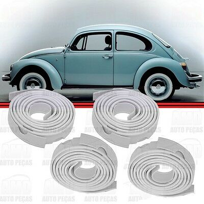 VW BUG Classic AIRCOOLED SUPER BEETLE FENDER BEADING 4 PACK WHITE Wing Type 1 2