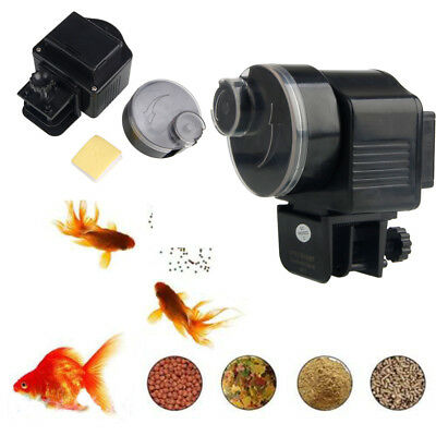 New Automatic Auto Fish Food Feeder for Aquarium Operated Automatically w/Food