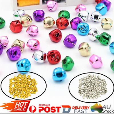 100pcs Loose Beads Mini Jingle Bells Halloween Christmas Tree Decor DIY Craft AU