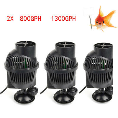 2X 800GPH/1300GPH Wave Maker Power Pump for Aquarium Freshwater Saltwater Fish
