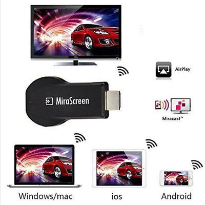 MiraScreen 2.4G Wifi Dispaly Phone to HDTV Dongle Airplay Miracast DLNA 1080P AU