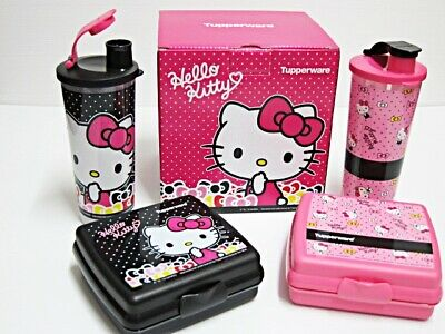 TUPPERWARE Hello Kitty Lunch Sandwich Set Limited Edition With Gift Box