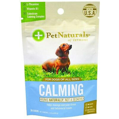 Pet Naturals of Vermont  Calming  For Dogs  30 Chews  1 59 oz  45 g