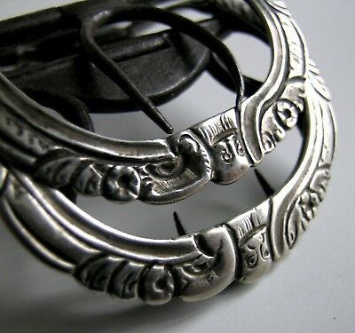 A rare Scottish George III pair of Jacobite silver shoe buckles, Glasgow, c.1760