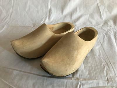 Zoccoli Olandesi Vintage Originali wood Holland Dutch clogs Hand made legno