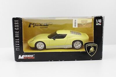 Lamborghini Miura Concept Car- E.1:43 - Small Car Model. Toy. Collecting - New